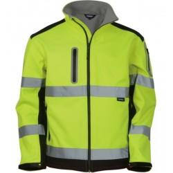 Vizwell Sarı Reflektörlü Softshell Ceket