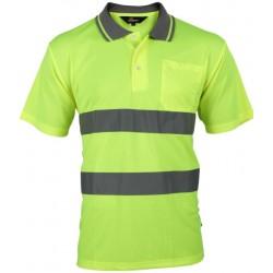 Vizwell Sarı Reflektörlü Polo Yaka T-Shirt