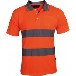 Vizwell Turuncu Reflektörlü Polo Yaka T-Shirt