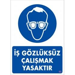 Koruyucu Gözlük Kullan