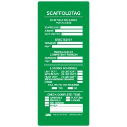 Scaffolding Tag Scaffold Released For Access